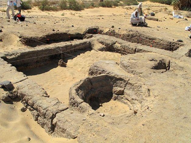 Ruinas de la panadería más antigua del mundo descubierta hasta ahora.