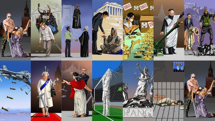 satira politica ilustraciones