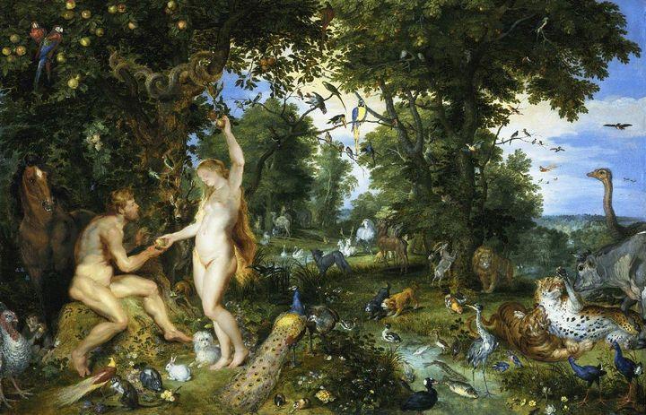 El Paraíso Terrenal con la Caída de Adán y Eva - Rubens