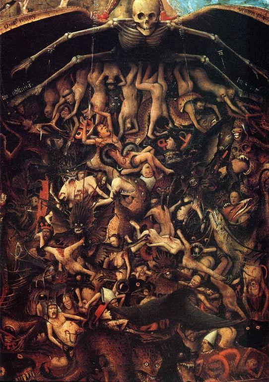 La Crucifixión y el Juicio Final por Jan van Eyck