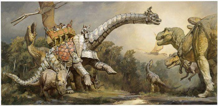 dinosaurio y humanos (2)