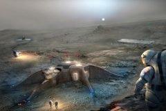 Así podrían ser las estaciones espaciales en Marte