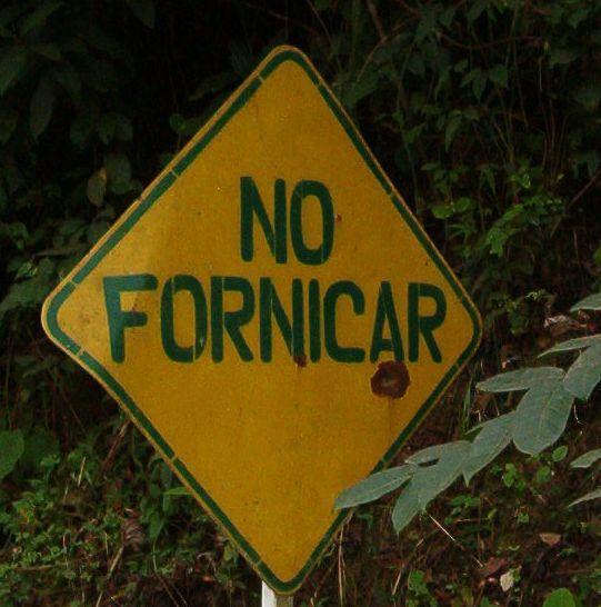 letrero no fornicar