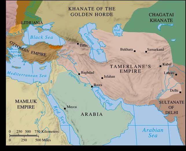 mapa imperio tamerlan