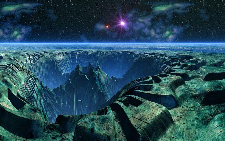 superficie planeta extraterrestre