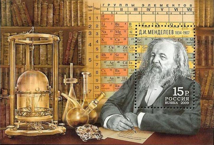 Dmitri Mendeléyev y la tabla periodica