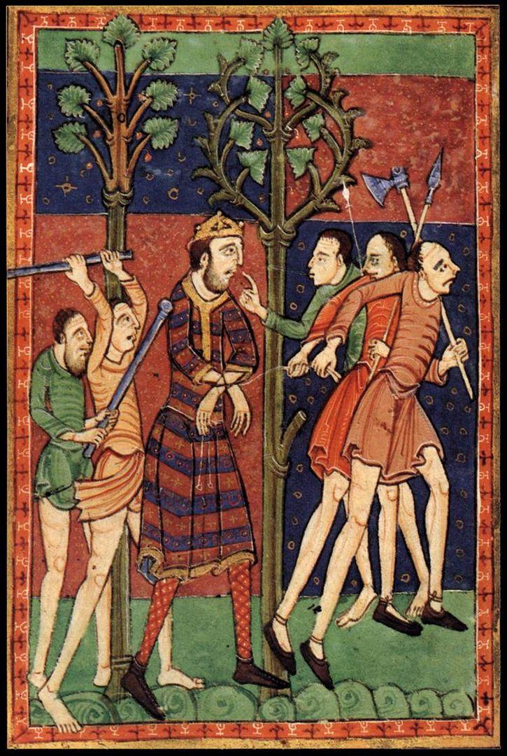 Edmundo martir ilustracion