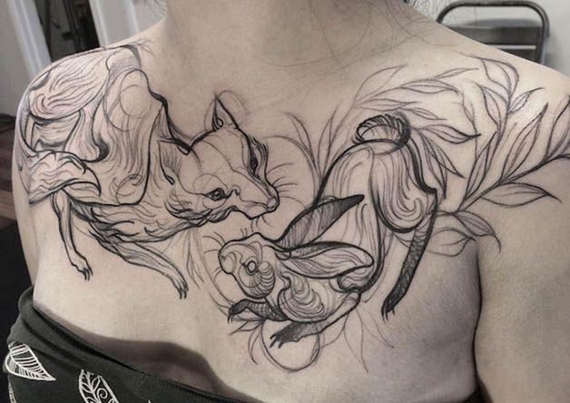 Nomi Chi tatuajes lapiz (13)