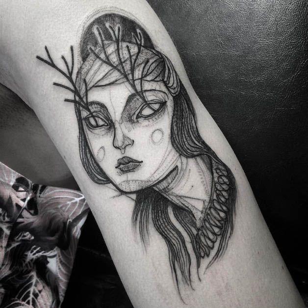 Nomi Chi tatuajes lapiz (14)