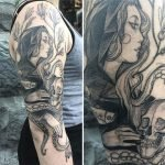 Tatuajes que parecen trazos de lápiz por Nomi Chi