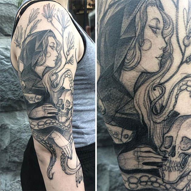 Nomi Chi tatuajes lapiz (18)
