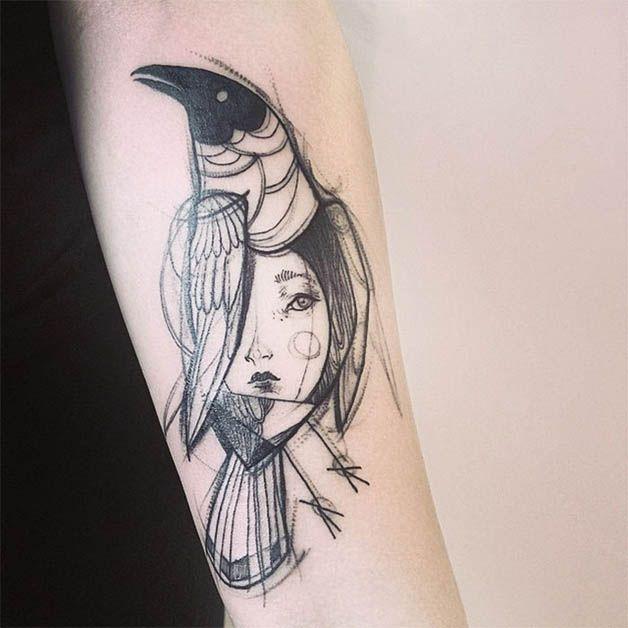 Nomi Chi tatuajes lapiz (20)