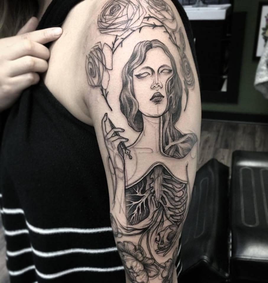 Nomi Chi tatuajes lapiz (7)