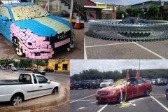 30 personas que recibieron su merecido por estacionarse mal