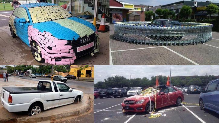 autos mal estacionados