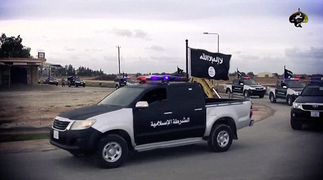 carro policia del estado islamico