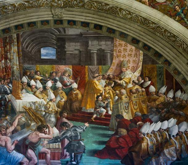Coronación de Carlomagno.