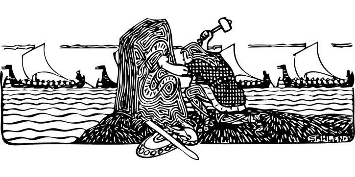 escena navegacion vikingos