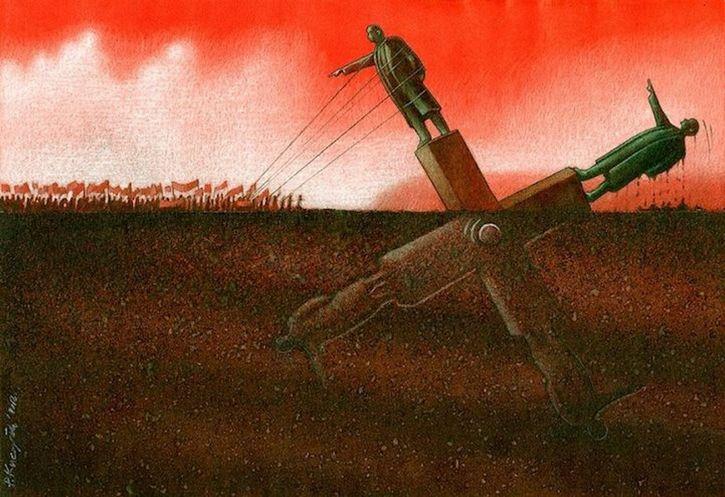 ilustracion dictadores