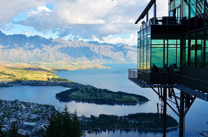 nueva zelanda lago y montañas