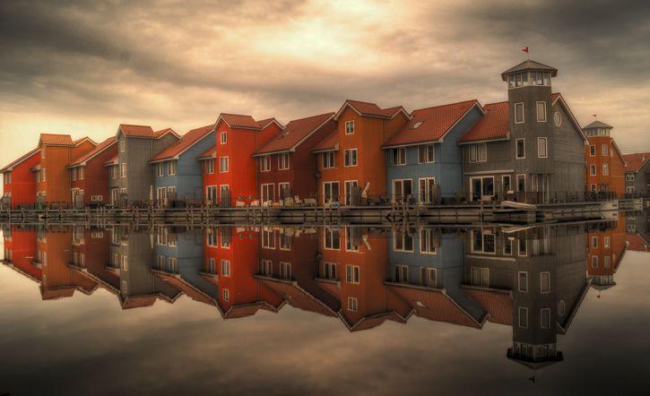 paies bajos casas color