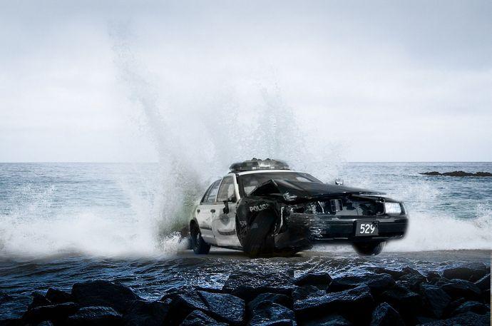 patrulla sobre el mar