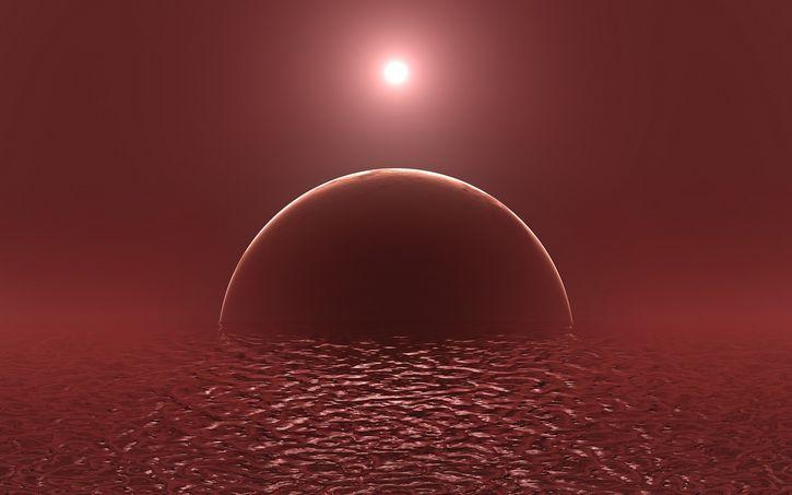 planeta extraterrestre rojo