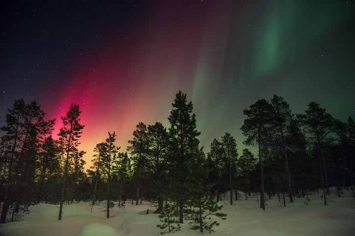 suecia aurora boreal