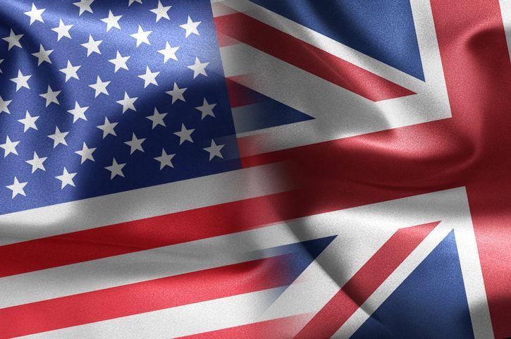 bandera estados unidos y gran bretaña unidas