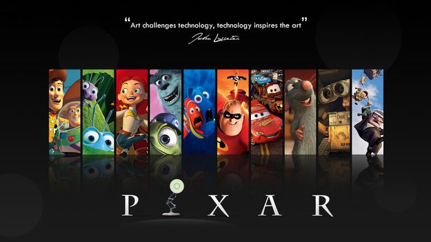 collage de pixar