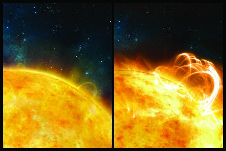 comparacion erupciones solares