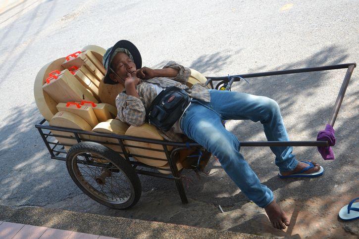 dormido carreta