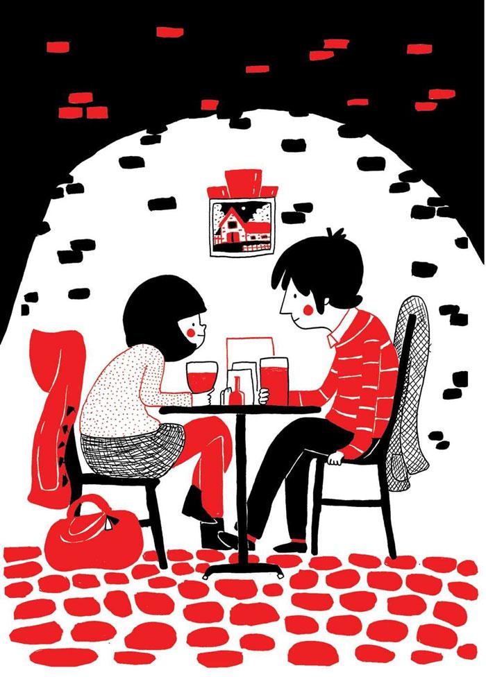 ilustraciones pareja felicidad (8)