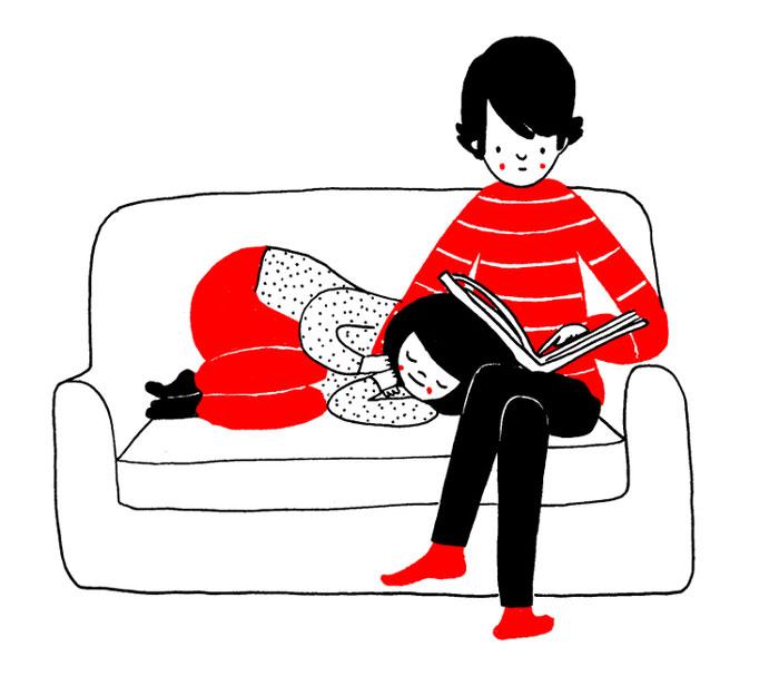 ilustraciones pareja felicidad (9)