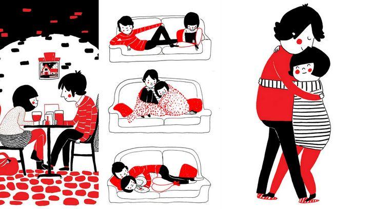 ilustraciones pequeñas cosas del amor