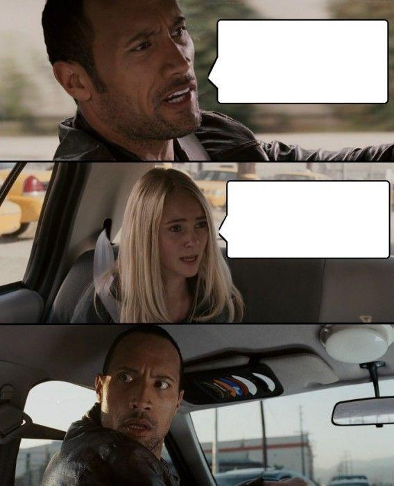 meme the rock manejando