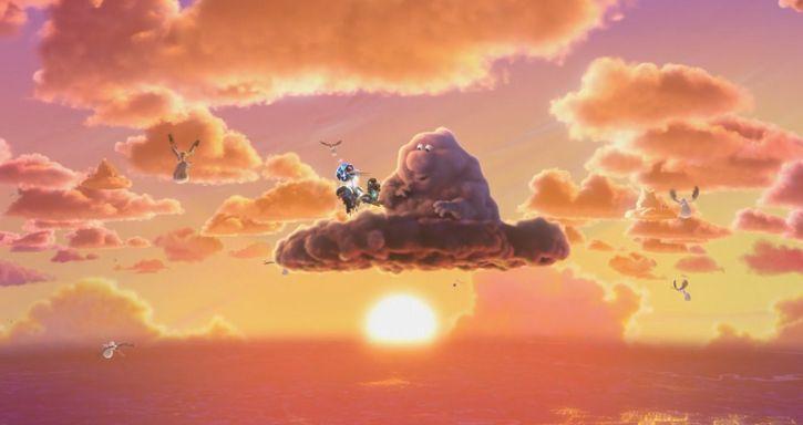 parcialmente nublado pixar