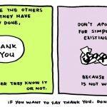 """Deja de decir """"lo siento"""" y empieza a decir """"gracias"""""""