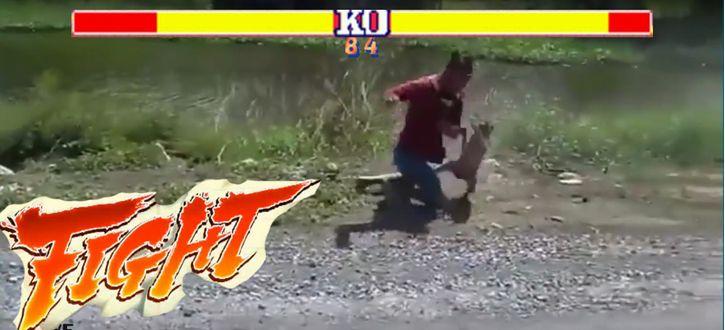 pelea mono motocilcista