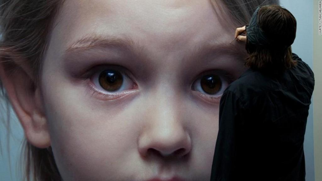 pinturas hiperrealismo Gottfried Helnwein niña