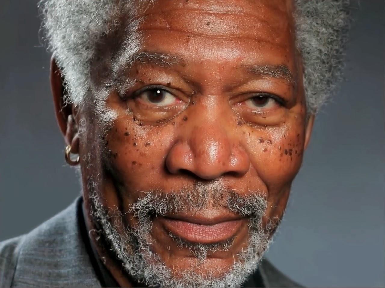 Kyle Lambert pinturas hiperrealismo Morgan Freeman