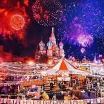 Moscú parece un cuento de hadas durante la Navidad