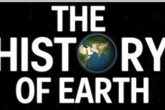 Creativo timeline muestra la historia de la Tierra, en perspectiva