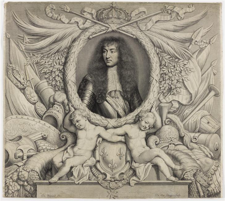 Grabado de Luis XIV, Pieter Van Schuppen.