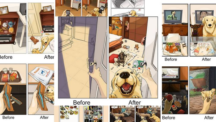 antes y despues mascotas