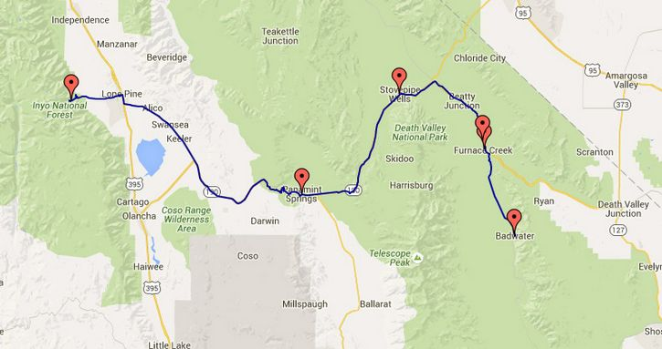 badwater ultra recorrido maps