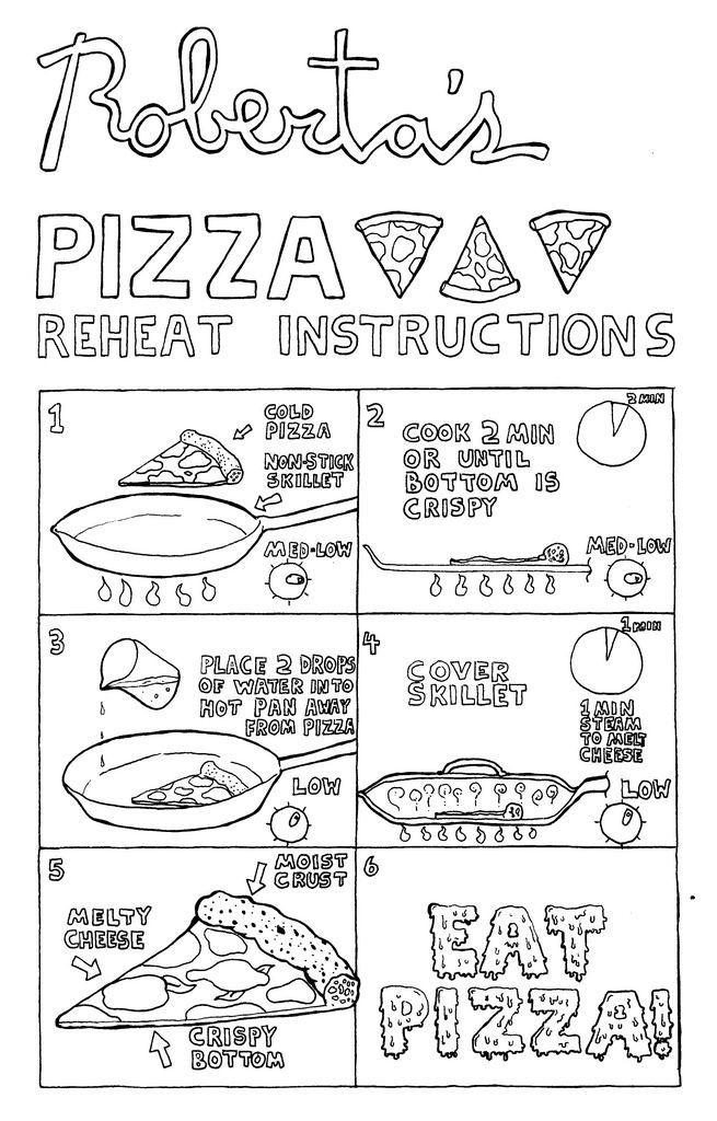 como calentar una pizza