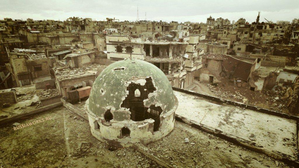 destruccion en Homs