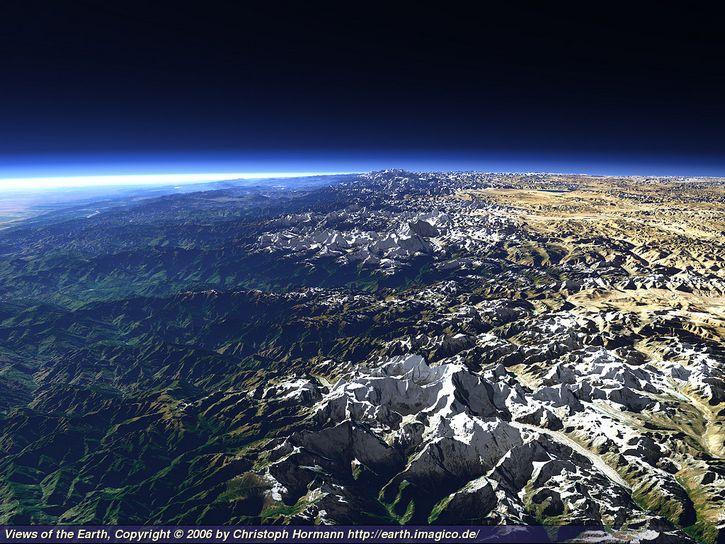 fotografia himalaya desde el espacio
