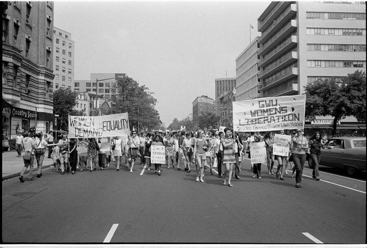 marcha igualdad de genero 1970